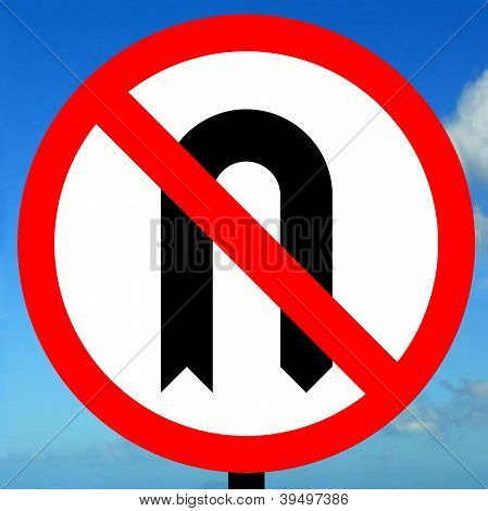 No U-turns sign