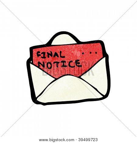 cartoon final notice bill