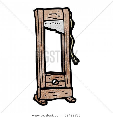 guillotine cartoon