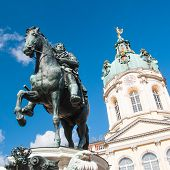 Statue Of Frederick William At The Schloss Charlottenburg In Berlin, Germany poster
