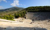 stock photo of epidavros  - Epidavros theatre - JPG