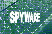 Spyware Text Over Binary Code