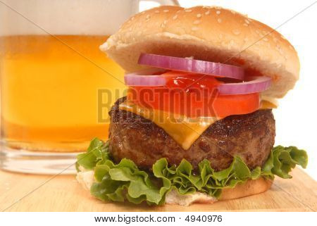 Cheeseburger And A Beer