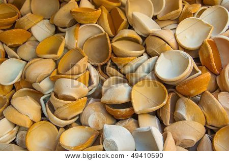 Clay Diya (ligts) For Sale In The Market Used For Deepavali