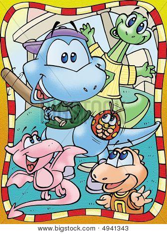 Playful Dinosaurs