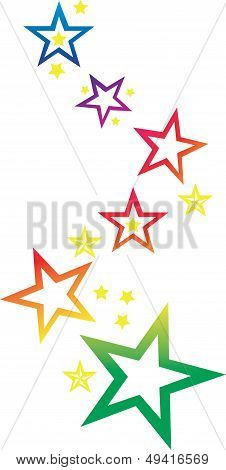 Abstract editable vector design of star shapes 2
