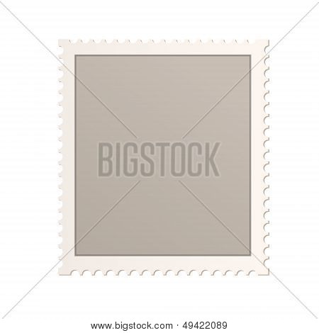 Empty Stamp Over Isolated White Background. Vector Design