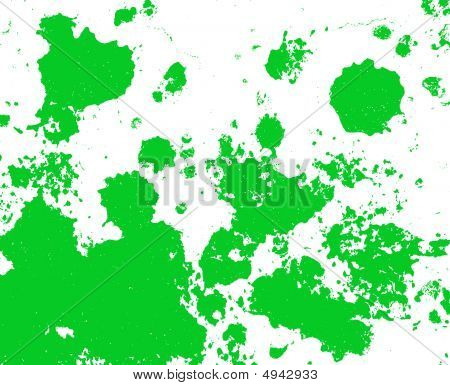 Green Paint Splatter Background