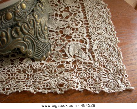 Lace And Old Lamp