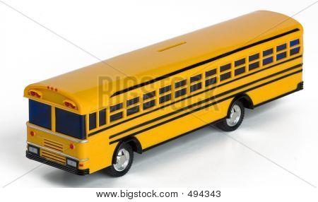 Plastic Yellow Toy School Bus Money Bank