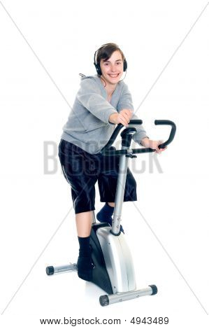 Young Boy Doing Fitness