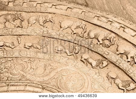 Ground Carving As Moonstone Relief