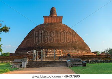Jethawanaramaya Dagoba (stupa). Anuradhapura, Sri Lanka