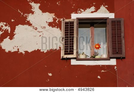 Window With Brown Shutters, Izola