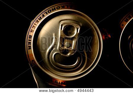 Closeup Non Alcoholic Beer Cans