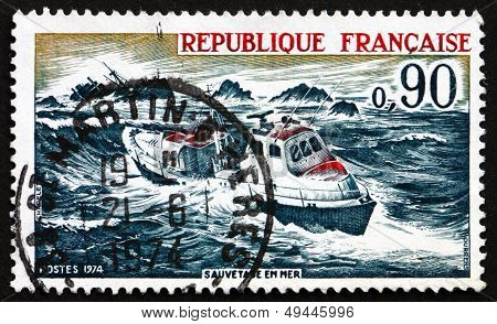 Postage Stamp France 1974 Sea Rescue