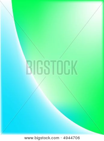 Blue And Green Wave Background