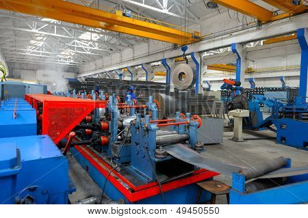 industrial machine in a factory