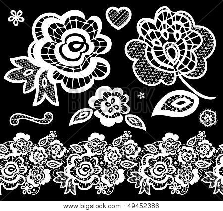 lace embroidery design elements