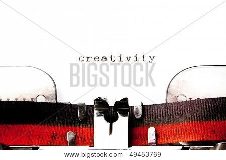 Concept Image With Word Creativity Printed