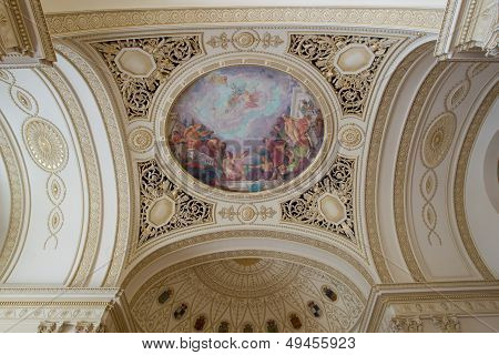 Fresco on a ceiling in the Throne Hall