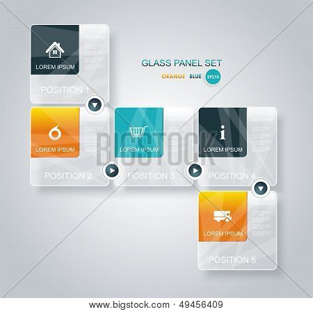 Modern Business Step Glassi Style Options Banner.