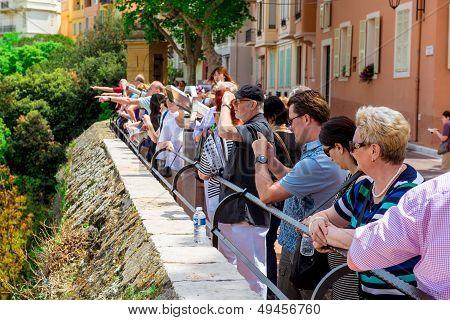 Visitors At Prince's Palace Of Monaco