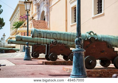 Cannons Close-up Near Prince's Palace Of Monaco
