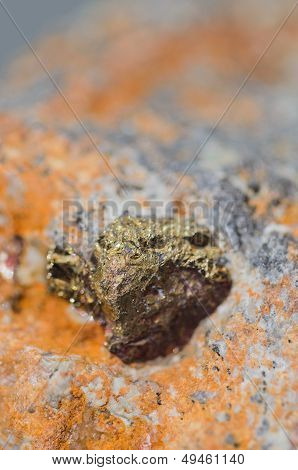 Pyrite crystals - iron disulfide