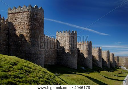 Avila, Spanien, Wand- und Türme