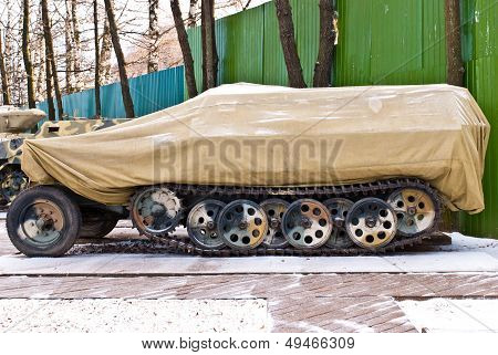 Old Russia Military Armored Personnel Carrier