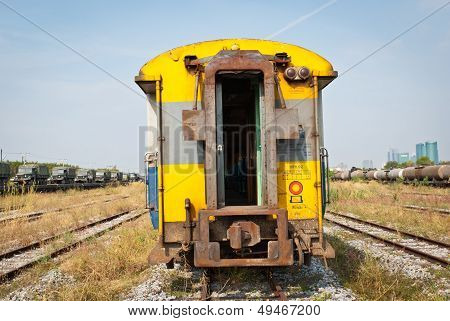Yellow Passenger Compartment Train.