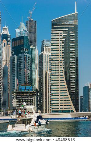 Yacht Club In Dubai Marina. Uae. November 16, 2012