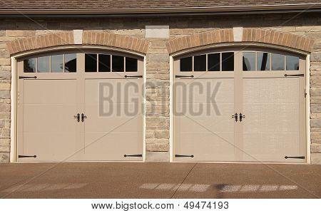 Double Garage Doors Driveway