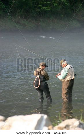 Senior Teaching Fishing