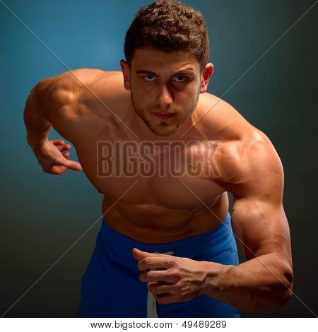 athletic young man portrait