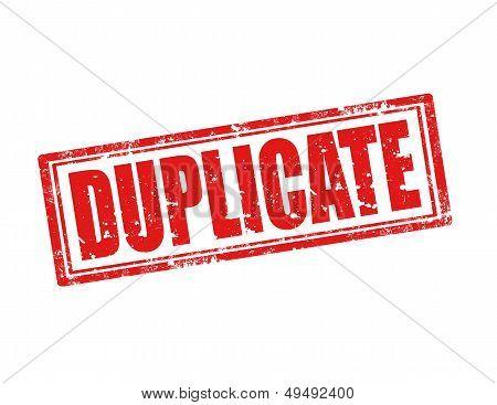 Sello de duplicado