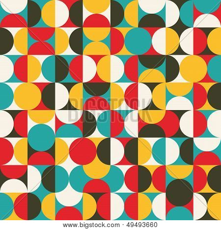 Retro seamless pattern with circles.