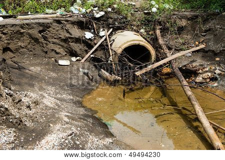 Dirty And Dangerous Sewage Drain