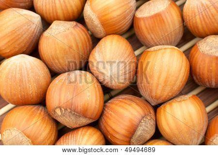 hazelnuts as background