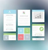Minimal info graphic flat fresh business elements vector illustration