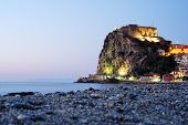 pic of promontory  - A Castello Ruffo Scilla in Calabria is located on a small promontory that rises majestically in the middle of the Mediterranean Sea - JPG