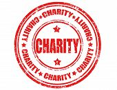 picture of word charity  - Grunge rubber stamp with word Charity - JPG