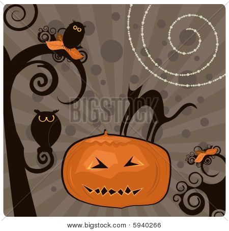 Halloween Design Element