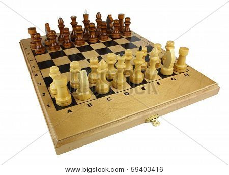 Chess On The Board Isolated