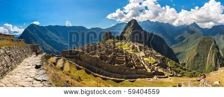 Mysterious City - Machu Picchu, Peru,south America. The Incan Ruins. Example Of Polygonal Masonry An