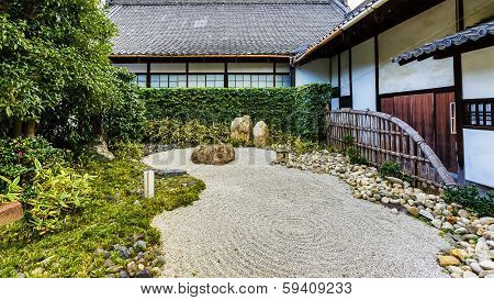 Rock garden at Shoren-in Temple in Kyoto
