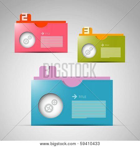 Vector Paper Progress Steps for Tutorial, Infographics