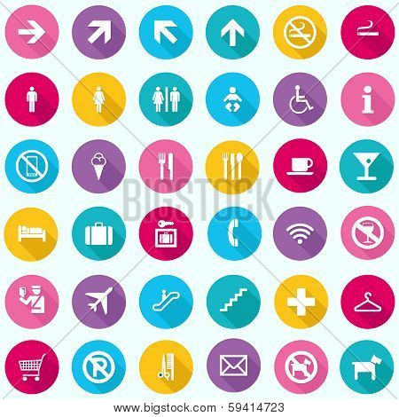 Travel Infographics - Tourism Signs Icons - vector