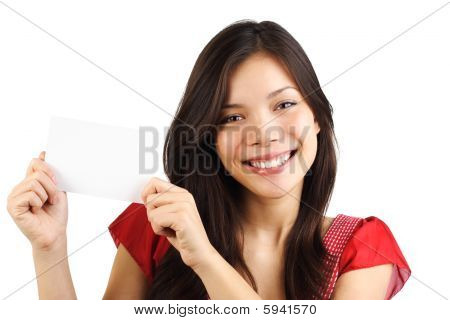 Blank Paper Card Woman